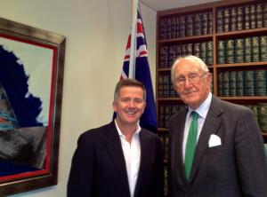 Sean Faircloth with Aust.PM ('75-'83) Malcom Fraser